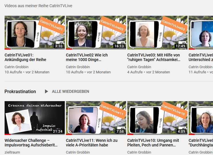 Catrin bei YouTube