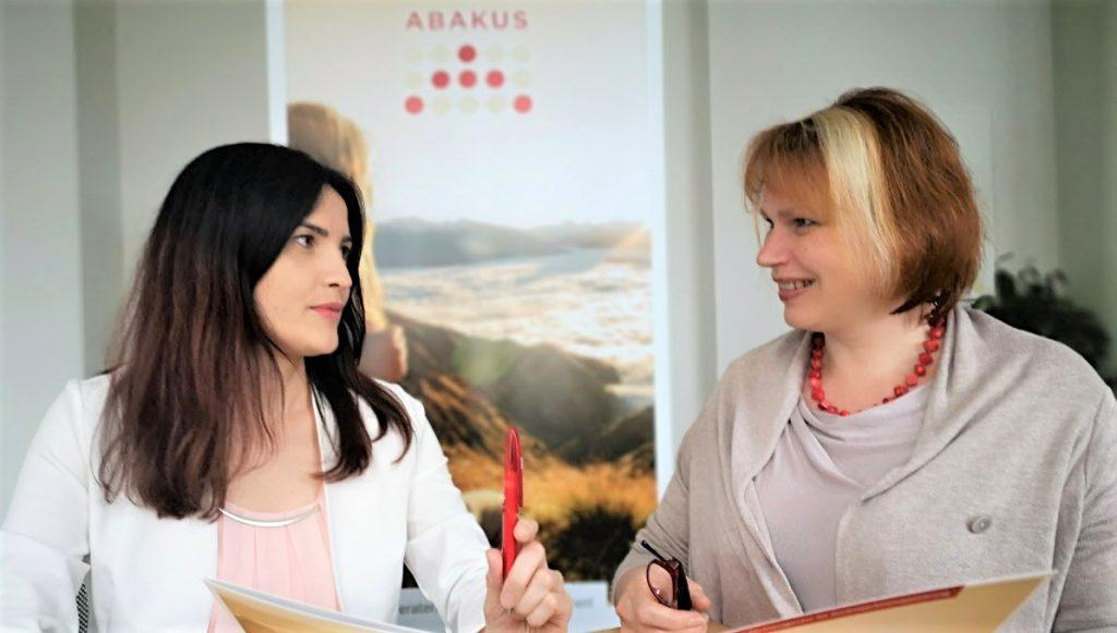 Beratungsgespräch zu Personal Branding mit SEO mit Anna Pianka bei ABAKUS Internet Marketing